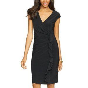 NWT American Living Black Side Ruffle Dress 12